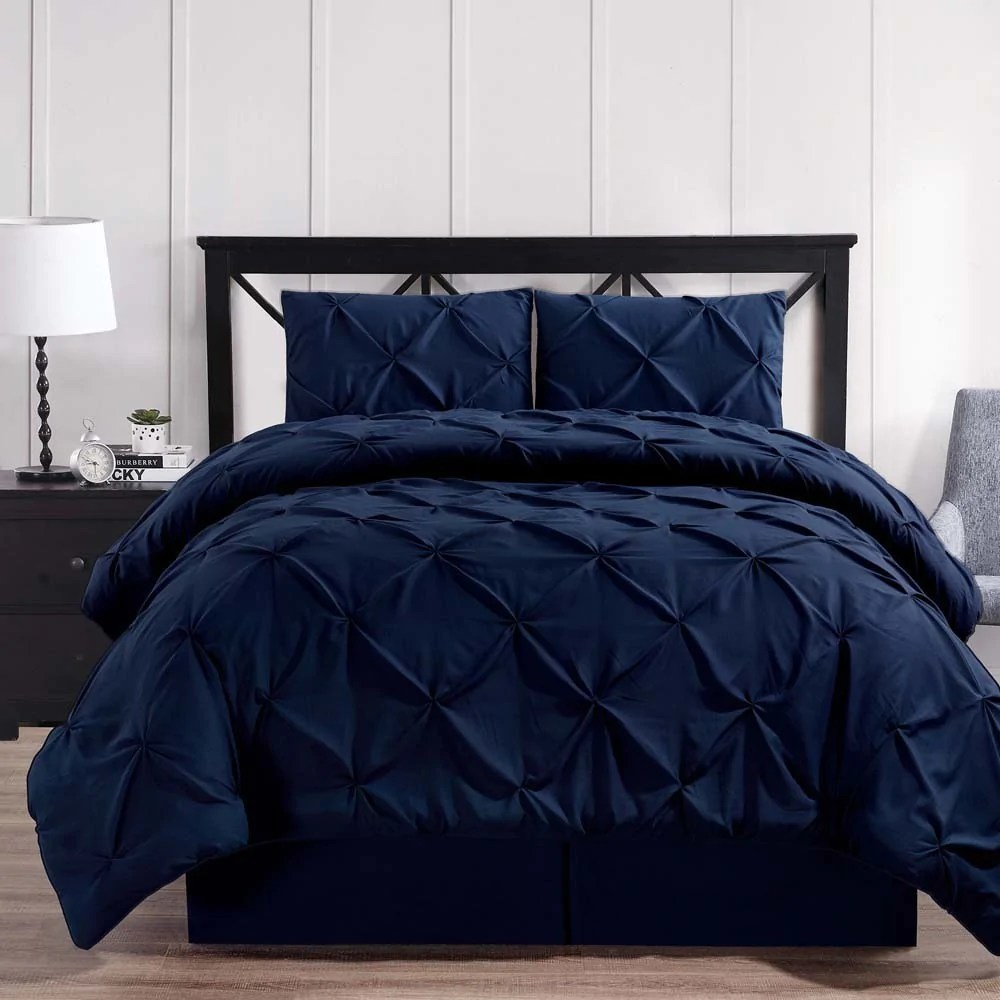 luxury soft pinch pleated comforter set