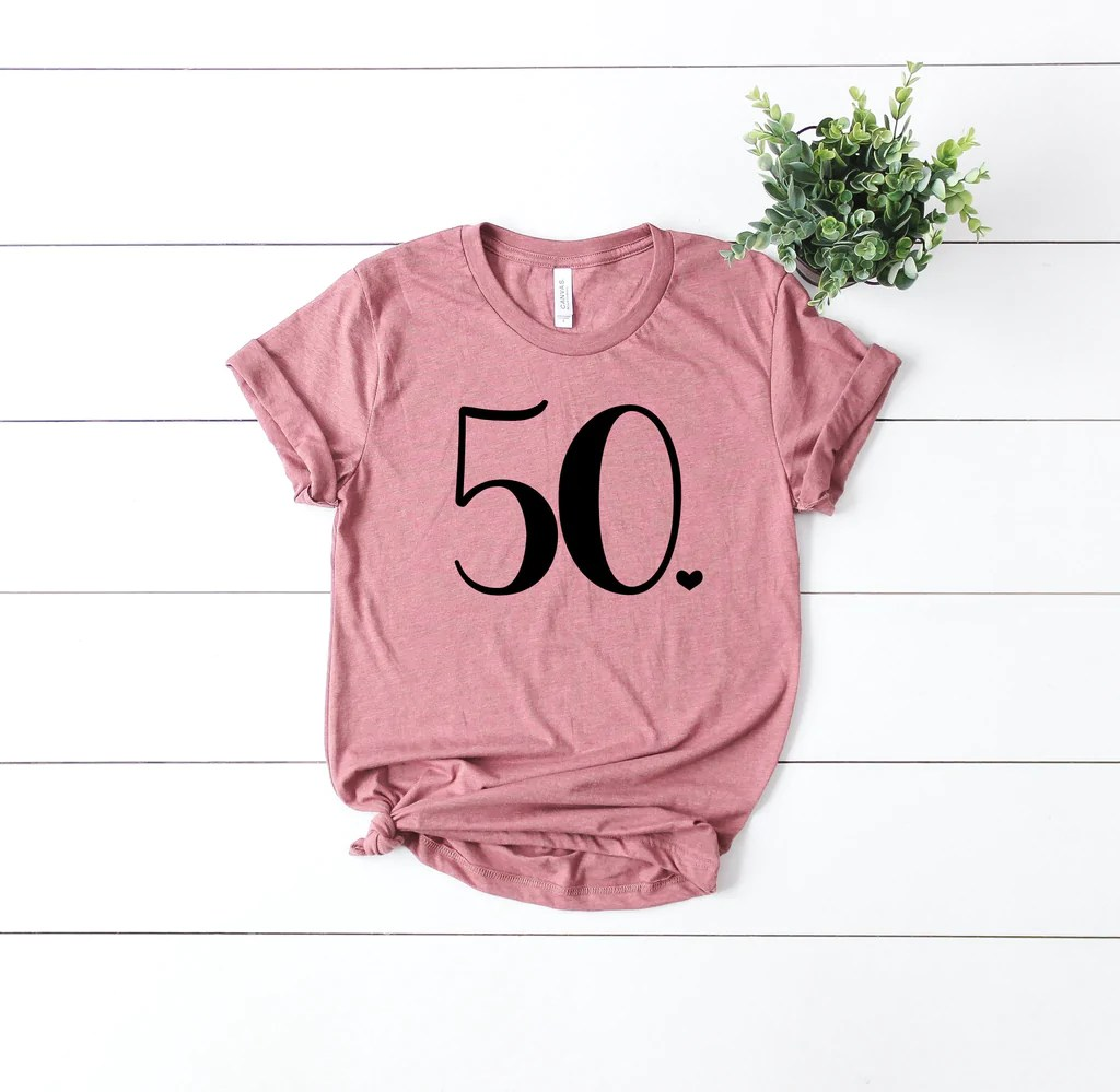 50th Birthday Shirt Fifty And Fabulous Hello 50 T Shirt Birthday Gi Up2ournecksinfabric