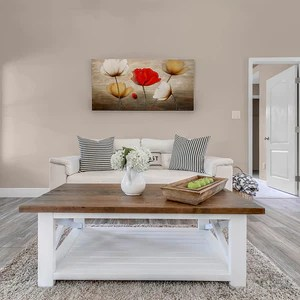 louise farmhouse white and wood top coffee table