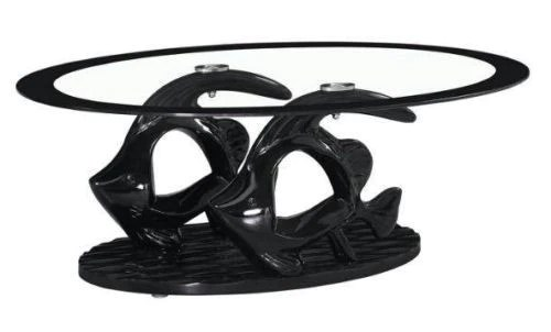 high gloss glass coffee table unique design stylish table available in black brown cream white