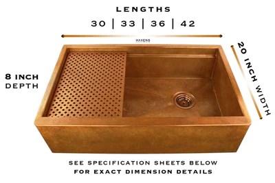 legacy farmhouse sink copper