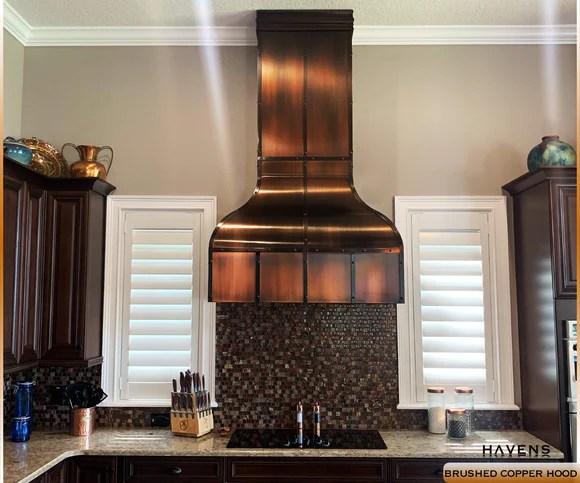 custom copper stainless range hoods