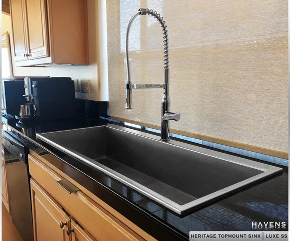 top mount sinks copper stainless