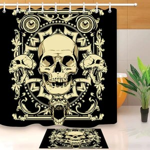 shower curtains everything skull