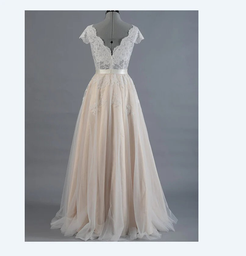 Boho Wedding Dress Bohemian Wedding Dress Lace Wedding