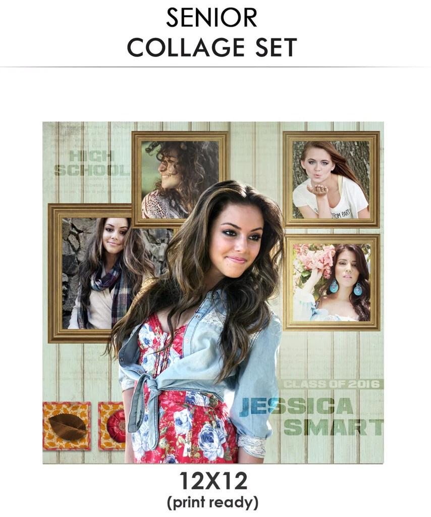 Jessica Senior Collage Photoshop Template