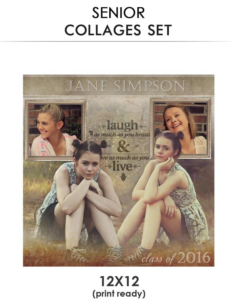 Jane Senior Collage Photoshop Template