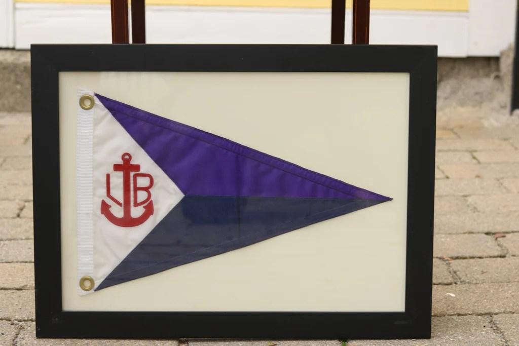 Framed Nylon Yacht Burgee Lannan Gallery
