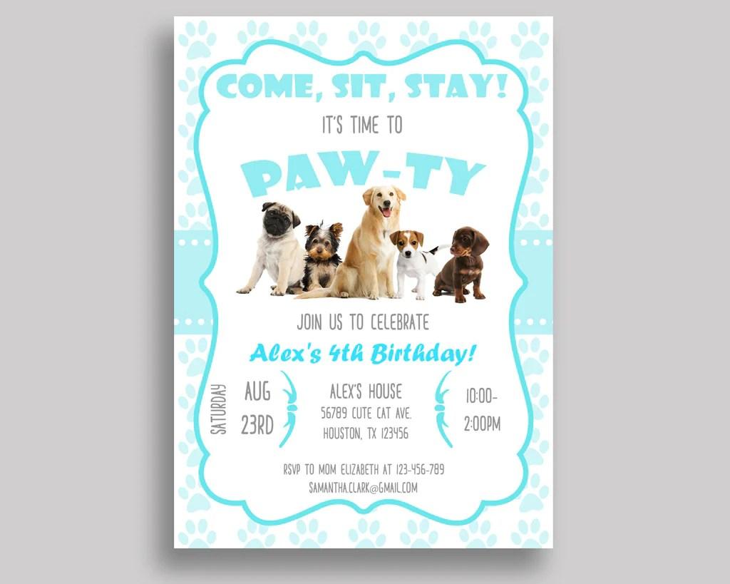 dogs birthday invitation dogs birthday