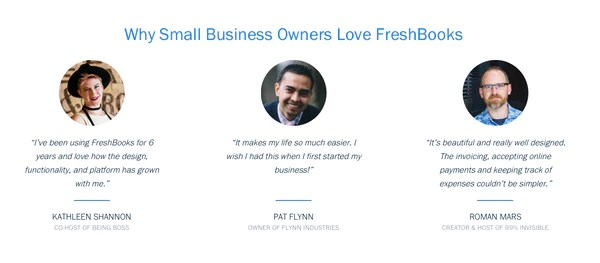FreshBooks social proof   Shopify Retail blog