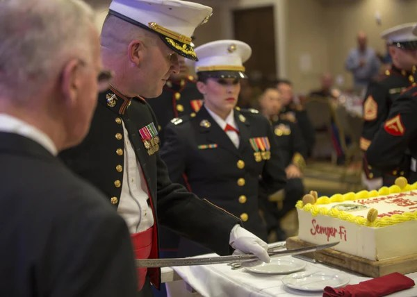 Marine Corps Birthday Cake Cutting