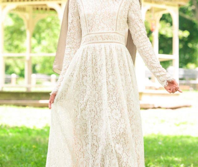 Zahra Lace Long Sleeve Evening Gown Abaya Hijabs Jilbabs On Sale Now