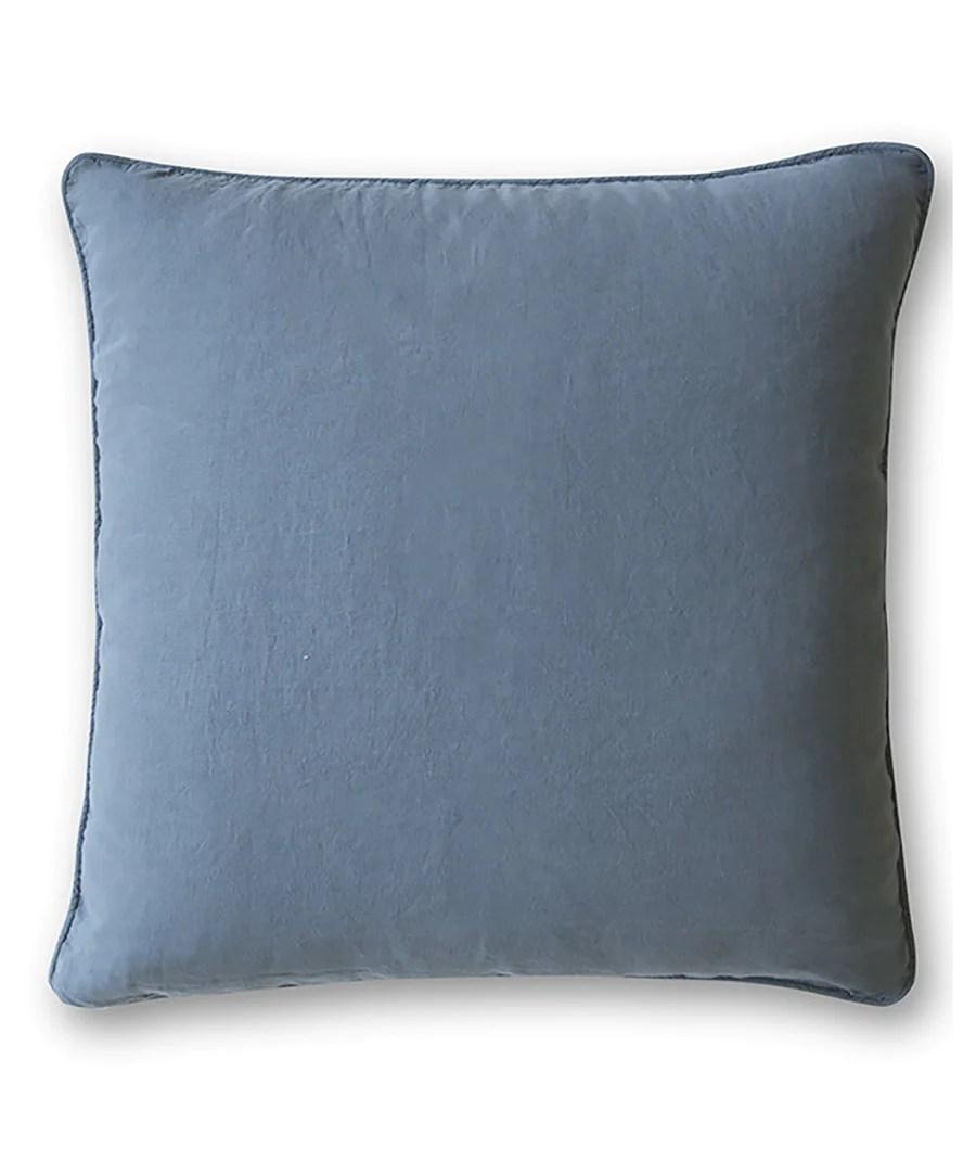 parisian blue linen cushion cover parisian blue 45x45cm