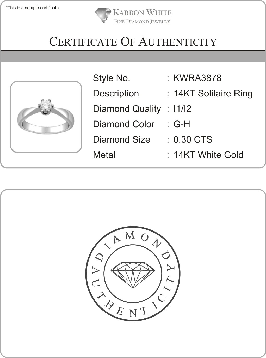 18kt White Gold Solitaire Engagement Ring With 1 1 4 Carat Tw Of Diamonds