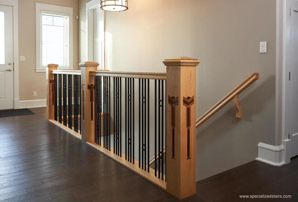 Craftsman Railing That Tells A Story – Custom Newel Posts   Square Newel Post Designs   Iron   3 Inch   Victorian Oak Newel   Modern Square   Stair Newel