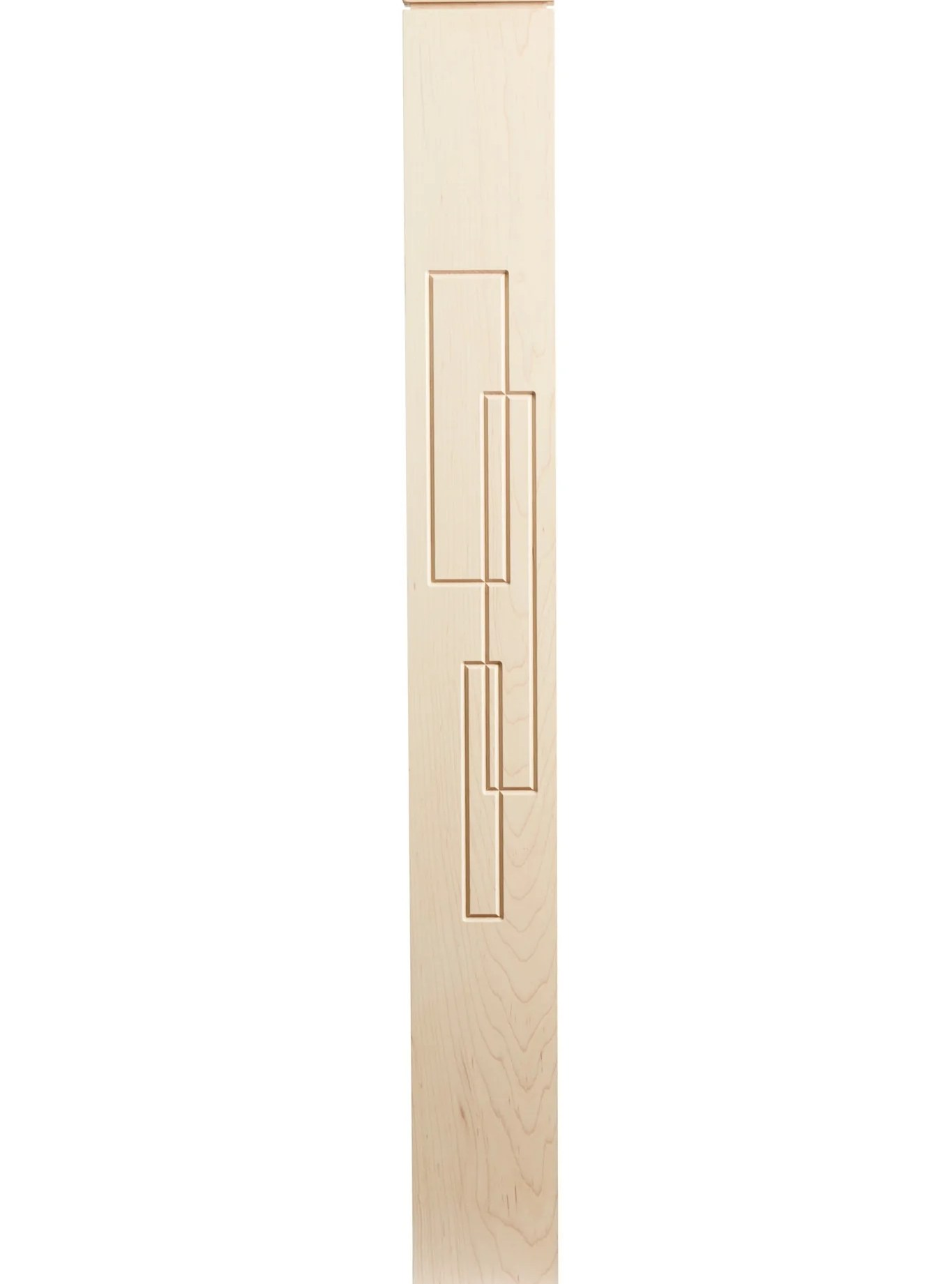 Paige Post – Custom Newel Posts   Mission Style Newel Post   Staircase   Stair Banister   Type   5 Inch   Fluted Box