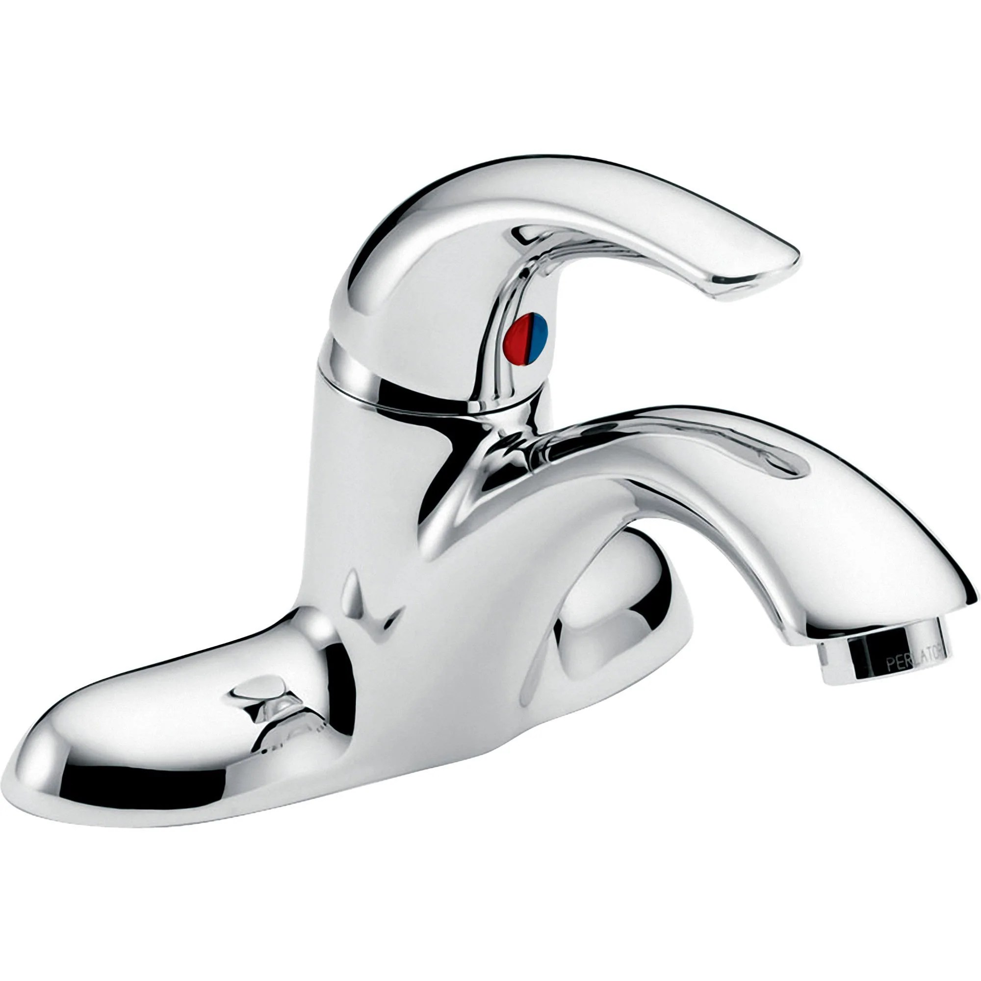 delta teck two hole single handle mid arc bathroom faucet in chrome 664761