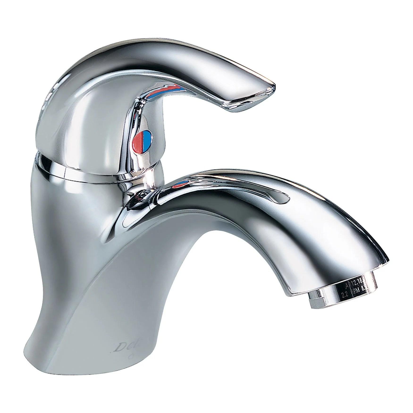 delta commercial chrome single hole 1 handle mid arc bathroom faucet 789329