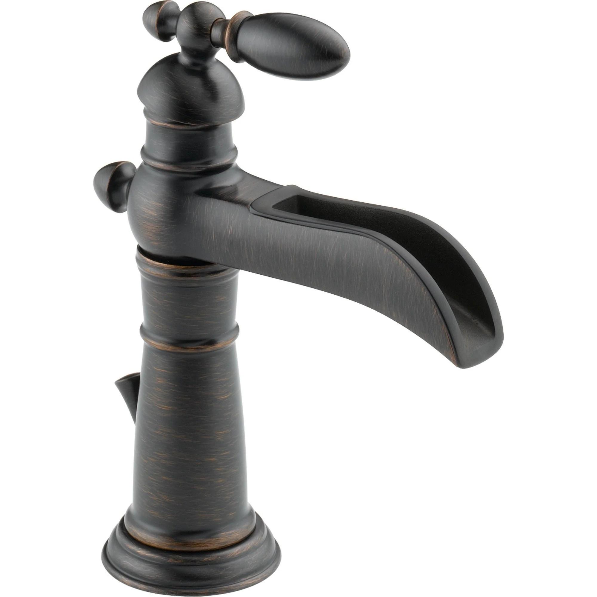 Delta Victorian Waterfall Single Handle Venetian Bronze Bathroom Fauce Faucetlist Com