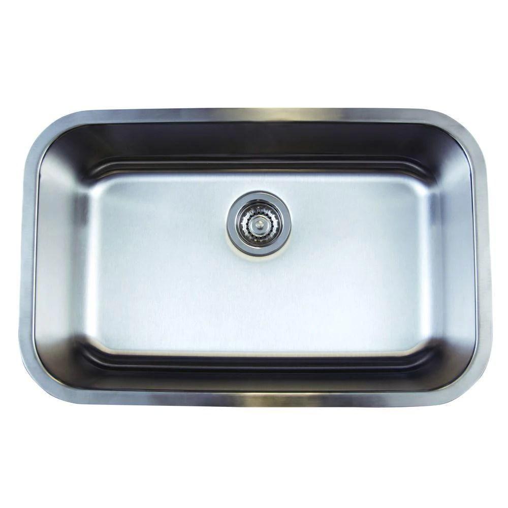 blanco stellar undermount stainless steel 28x18x9 1 hole single bowl kitchen sink 464486