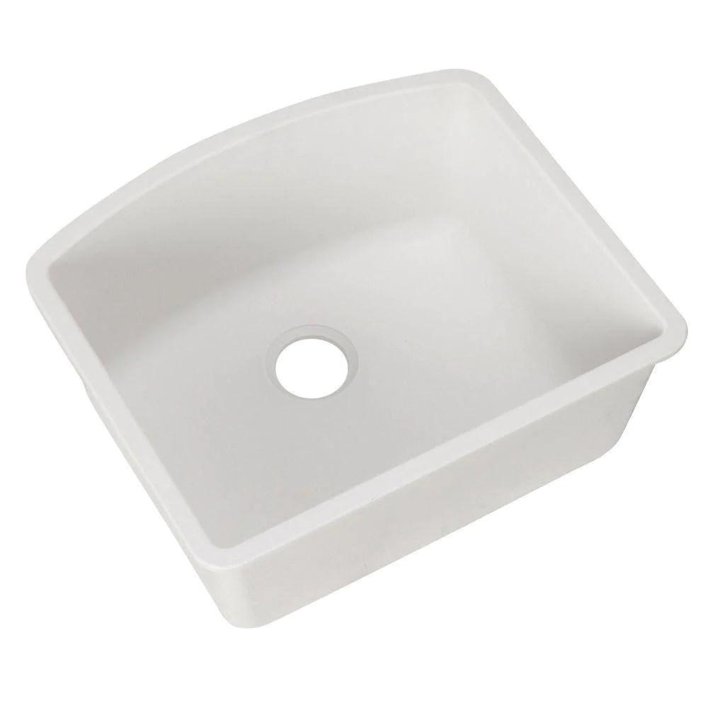 blanco diamond undermount composite 24x20 8x10 0 hole single bowl kitchen sink in white 715717