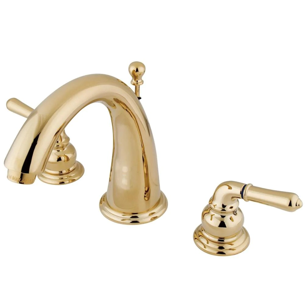 polished brass bathroom sink faucet new