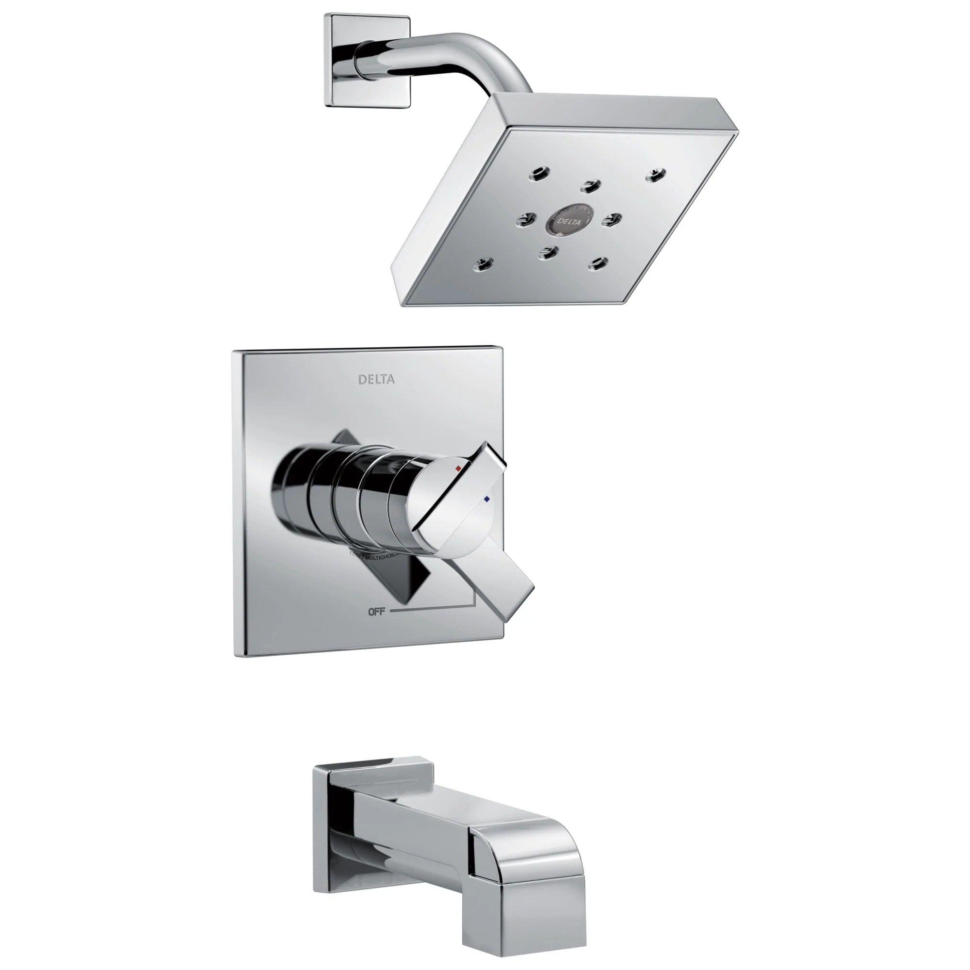 tub and shower combination faucets