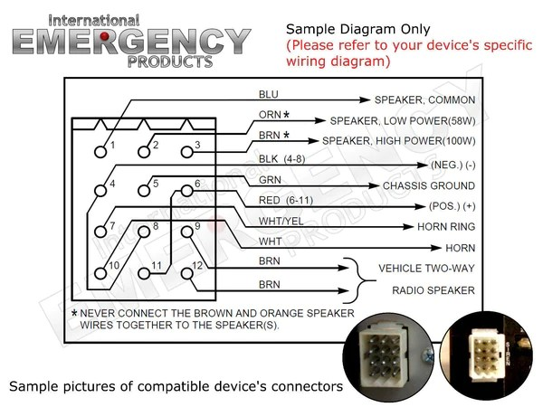12 Pin Connector Plug for Federal Signal Smart Siren