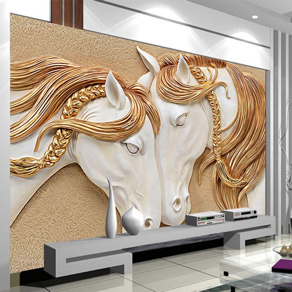 Poster Mural Imprime Hd Sculpture Chevaux Trompe L Oeil 3d Tetes B Chevaux Passion
