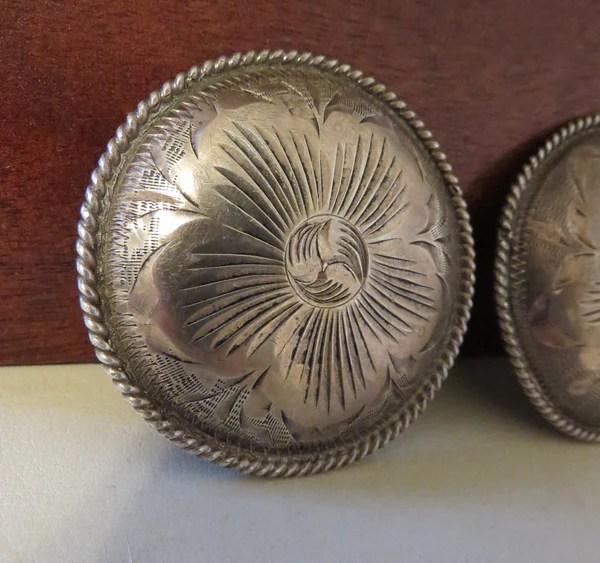 Vintage Sterling Silver Headstalls Pics