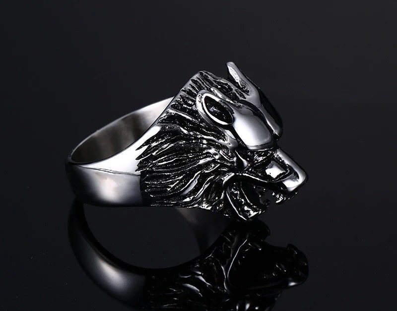 Wolf Head Ring Stainless Steel Bold And Honest