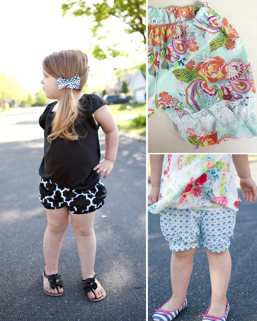 girls bloomer shorts pdf sewing pattern