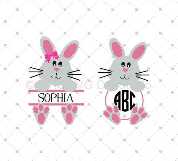 SVG Cut Files For Cricut And Silhouette Easter Bunny SVG