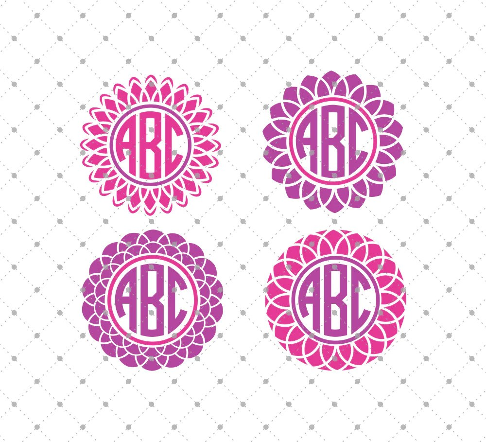 Download SVG Cut Files for Cricut and Silhouette - Flower Monogram ...