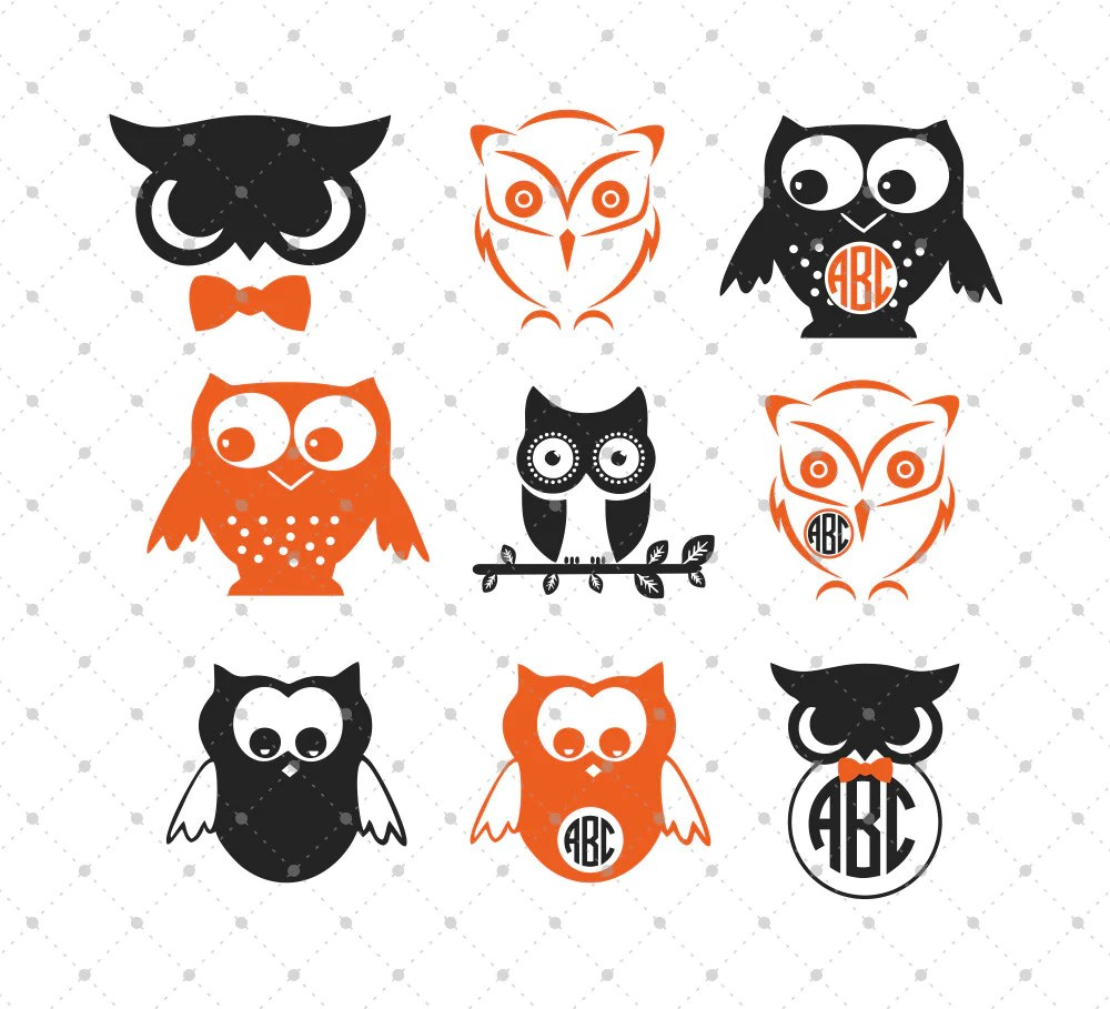 Download SVG Cut Files for Cricut and Silhouette - Owls Files #2 ...