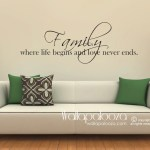 Family Where Life Begins And Love Never Ends Family Wall Decal Wall Art
