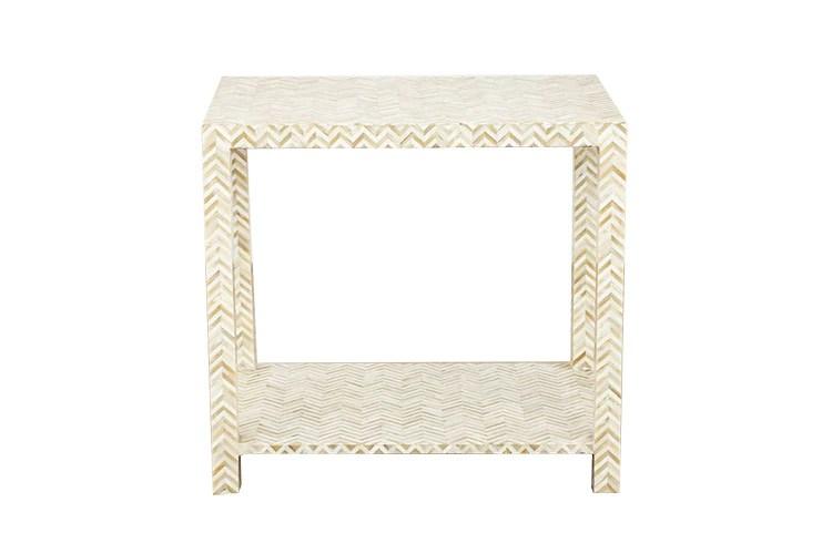ivory bone inlay side table