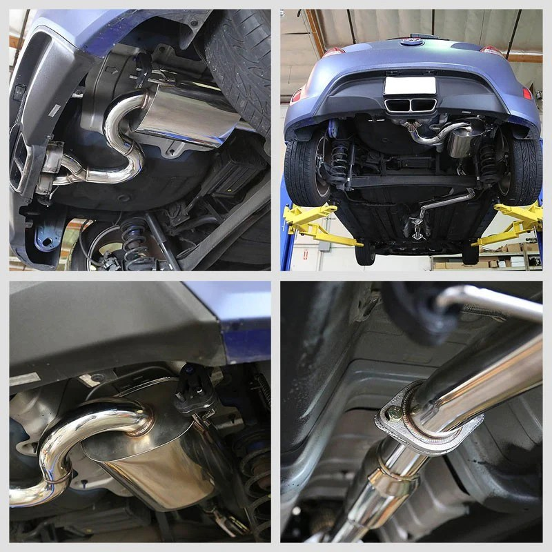 exhaust catback system stainless steel for 12 14 hyundai veloster base 1 6l