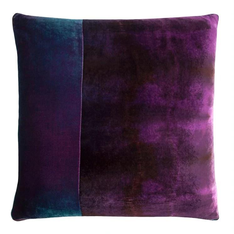 shark velvet color block pillow by kevin o brien studio