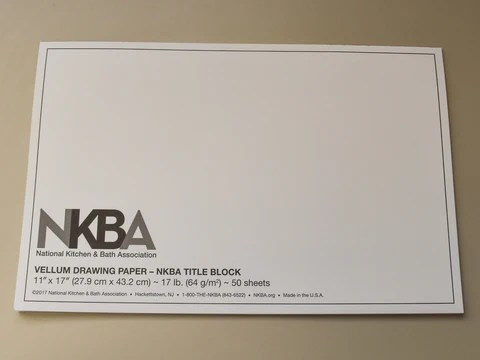 11 X 17 NKBA Drawing Paper The National Kitchen Amp Bath Association