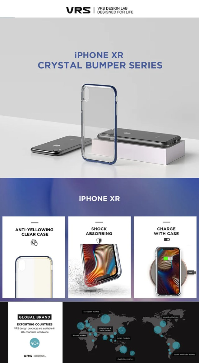 Best Clear Case for iPhone XR Crystal Bumper Series From VRS Design