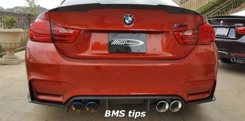 bms bmw s55 fm 3 75 set of 4 slip on exhaust tips m3 m4