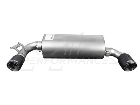 ac schnitzer bmw f22 f23 m240i dual sports exhaust with carbon fibre tailpipe