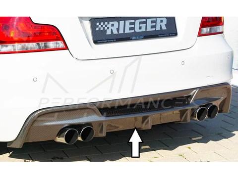 rieger bmw 1 series e82 e88 rear quad diffuser inc 118i 120i 128i 135i