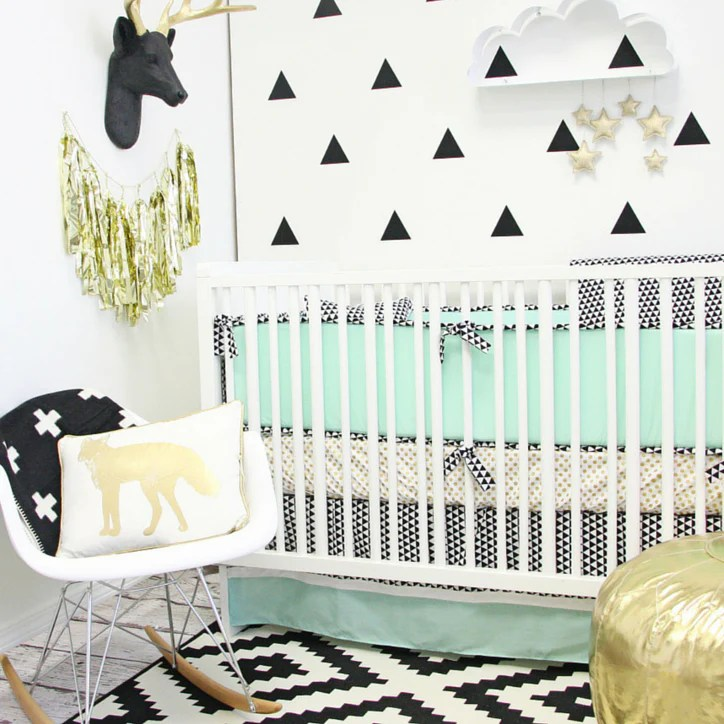 3 mint crib bedding sets perfect for a