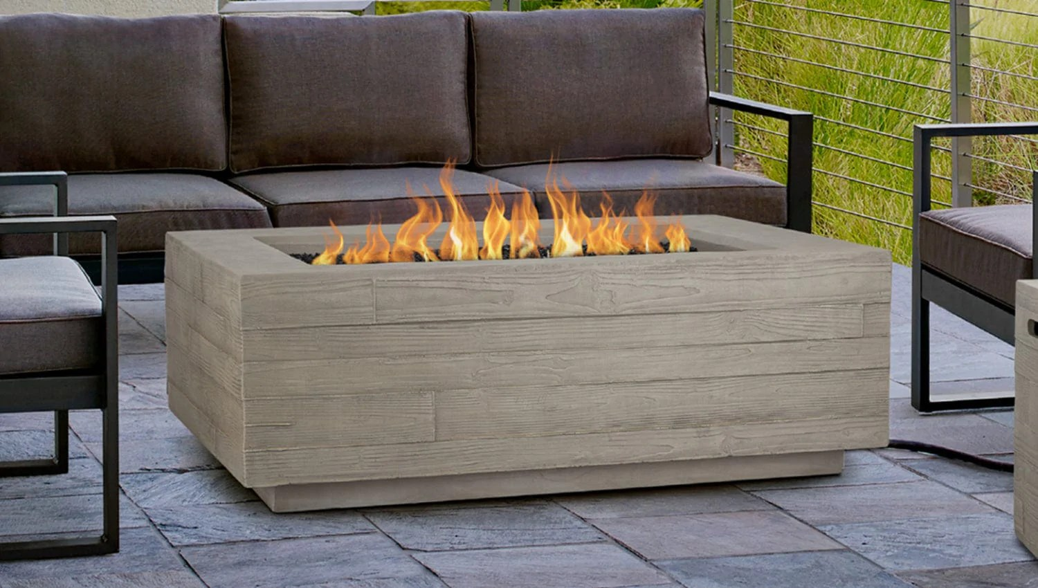 Board Form Rectangle Fire Table