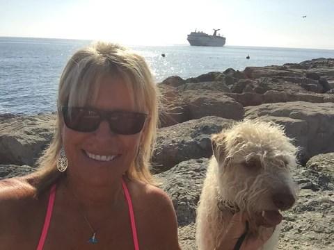 Lorren and Buckley on Catalina Island