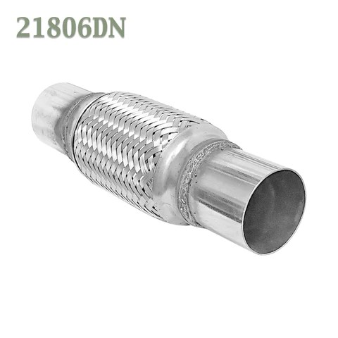 2 1 8 x 6 x 10 in flex pipe exhaust coupling stainless heavy duty w ends