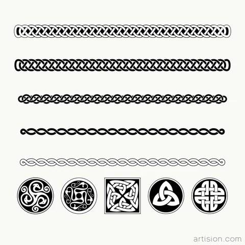 Celtic Knots Divider Design Elements Free Download Artision