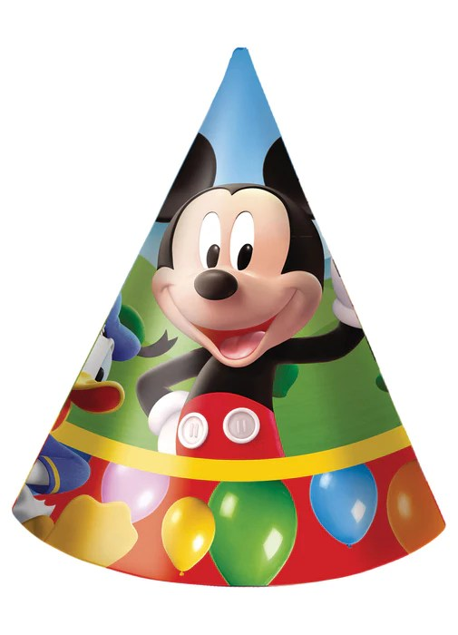 Mickey Mouse Party Hats 6pk Party Britain
